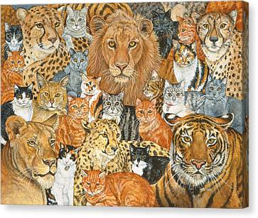 Semi Wild Cat Spread Canvas Print by Ditz
