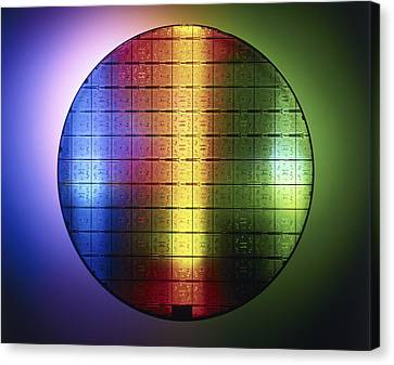 Semiconductor Wafer Canvas Print by Pasieka