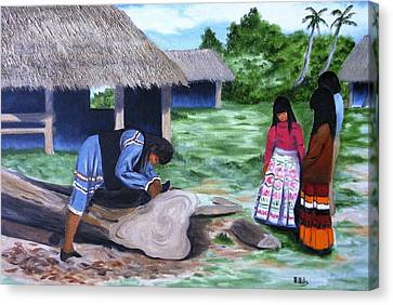 Seminole Canoe Canvas Print