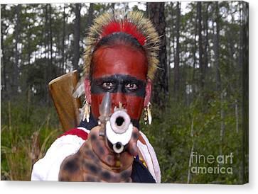 Seminole Warrior Canvas Print by David Lee Thompson