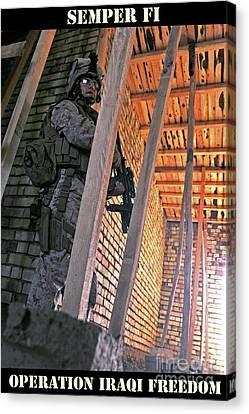 Semper Fi Operation Iraqi Freedom Canvas Print by Liesl Marelli