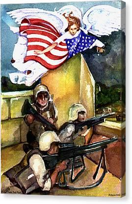 Semper Fideles -  Iraq Canvas Print by Elle Smith  Fagan
