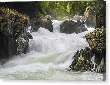 Canvas Print featuring the photograph Semuch-champey River And Waterfalls by Yuri Santin