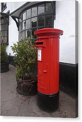 Send A Message Home - Royal Mail Post Box Canvas Print by Gill Billington