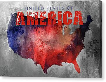 Sending Love To The United States Of America Canvas Print
