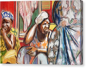 Canvas Print featuring the painting Senegal, 1965 by Gary Coleman