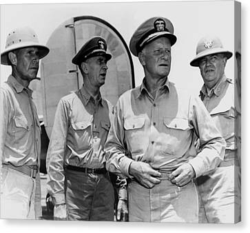 Senior Naval Officers Ww2 - Nimitz, King, Etc. Canvas Print by War Is Hell Store