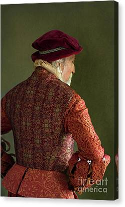 Canvas Print featuring the photograph Senior Tudor Man by Lee Avison