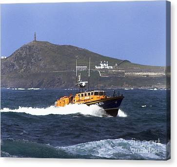 Sennen Cove Lifeboat Canvas Print by Terri Waters