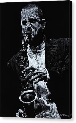 Performers Canvas Print - Sensational Sax by Richard Young