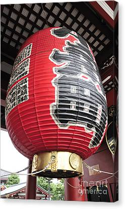 Sensoji Lantern Canvas Print by Andy Smy