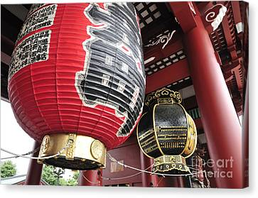 Sensoji Lanterns Canvas Print by Andy Smy
