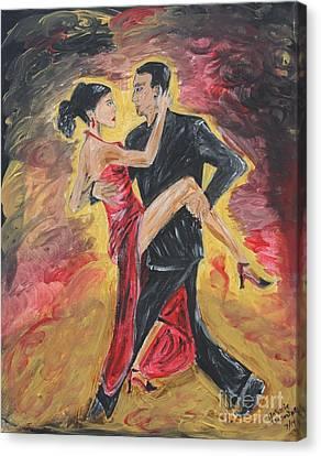 Sensual Tango Canvas Print by Jasmine Tolmajian
