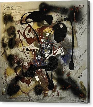 Sentiments Et Emotions Canvas Print by Karo Evans