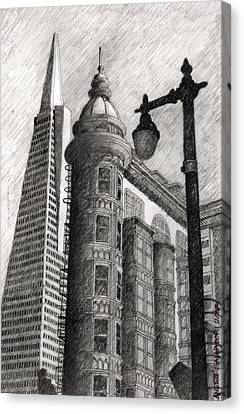 Sentinel Building Canvas Print
