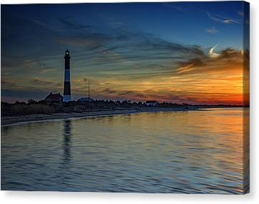Sentinel Of Great South Bay Canvas Print by Rick Berk