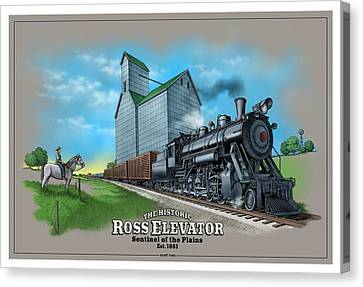 The Ross Elevator Sentinel Of The Plains Canvas Print by Scott Ross