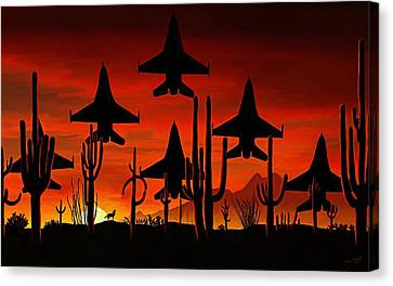 Sentinels Canvas Print by David Wagner