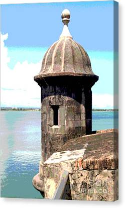 Sentry Box In El Morro Canvas Print