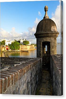 Sentry Post On Old City Wall Canvas Print by George Oze