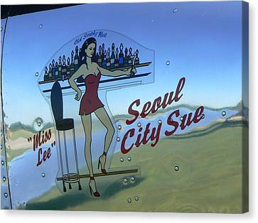 Seoul City Sue Canvas Print by Ron Hayes