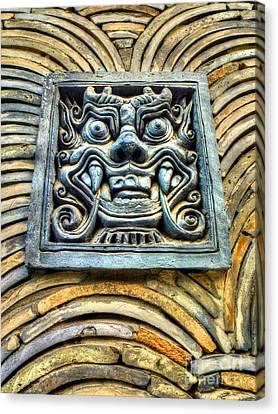 Seoul Mask Tile Canvas Print by Michael Garyet