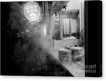 Canvas Print featuring the photograph Seoul Steam by Dean Harte