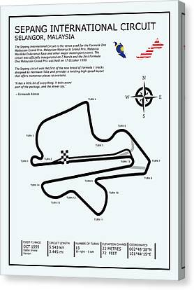 Sepang Circuit Canvas Print