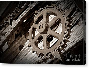 Canvas Print - Sepia Gear Wheel by Chalet Roome-Rigdon