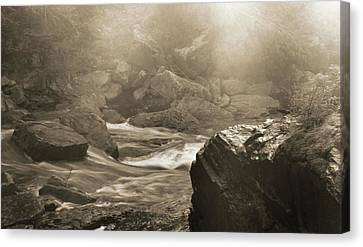 Sepia Moody River Canvas Print by Dan Sproul