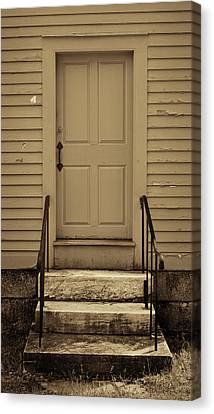 Sepia Shaker Door Canvas Print by Stephen Stookey