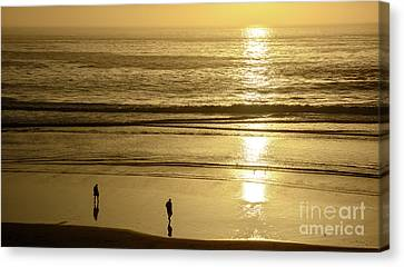 Canvas Print featuring the photograph Sepia Sunset by Susan Wiedmann