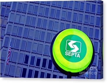 Septa Sign Canvas Print by Olivier Le Queinec