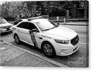 Police Cruiser Canvas Print - septa southeastern pennsylvania transit authority transit police ford cruiser patrol car Philadelphi by Joe Fox