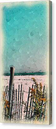 Canvas Print featuring the painting September Beach by Susan Fisher