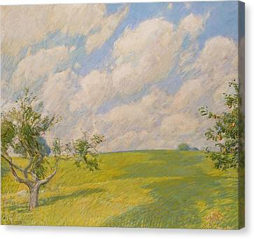 September Clouds Canvas Print by Childe Hassam