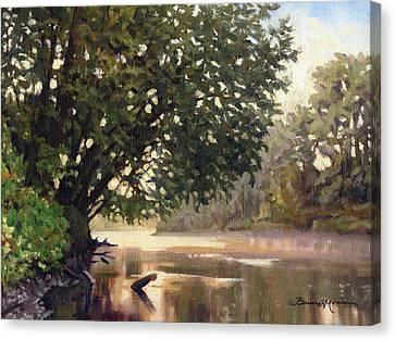 September Dawn Little Sioux River - Plein Air Canvas Print