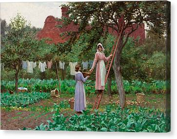 September Canvas Print by Edmund Blair Leighton