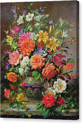 Horticultural Canvas Print - September Flowers   Symbols Of Hope And Joy by Albert Williams