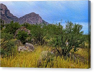 Canvas Print featuring the photograph September Oasis No.2 by Mark Myhaver