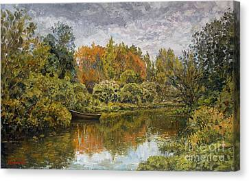 Trees Canvas Print - September. On The River by Andrey Soldatenko