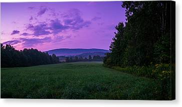 Canvas Print featuring the photograph September Twilight by Chris Bordeleau