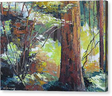 September Woods Canvas Print by Melody Cleary