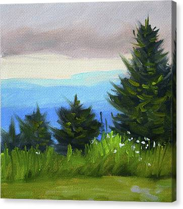 Canvas Print featuring the painting Sequim Vista by Nancy Merkle