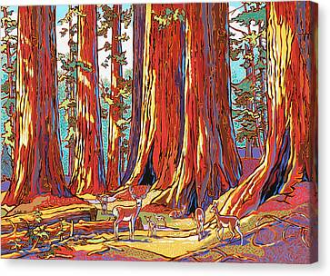 Sequoia Deer Canvas Print by Nadi Spencer