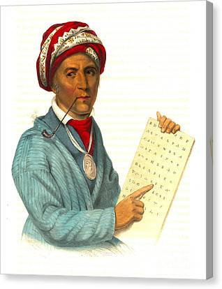 Canvas Print featuring the photograph Sequoyah 1838 by Padre Art