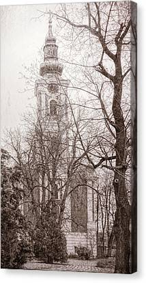 Serbian Orthodox Cathedral Canvas Print by Joan Carroll