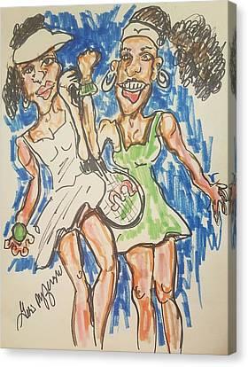 Serena And Venus Williams Canvas Print