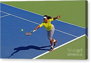 Serena Williams 1 Canvas Print by Nishanth Gopinathan