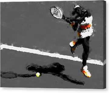 Serena Williams 5r Canvas Print by Brian Reaves